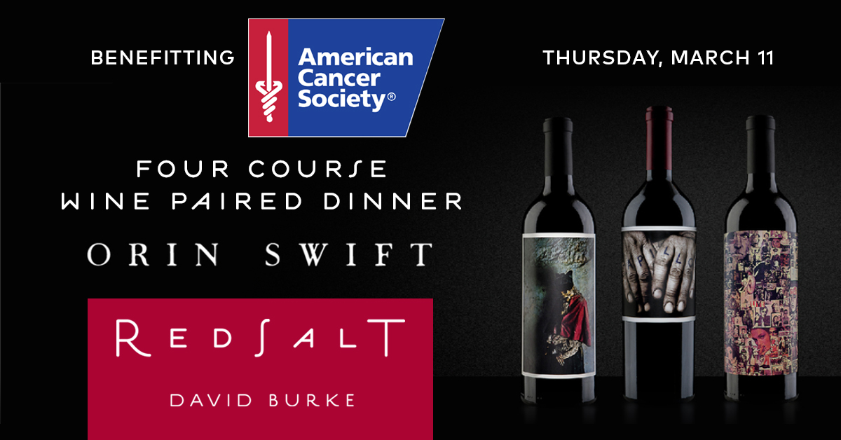 ACS Orin Swift Wine Paired Dinner at Red Salt by DB