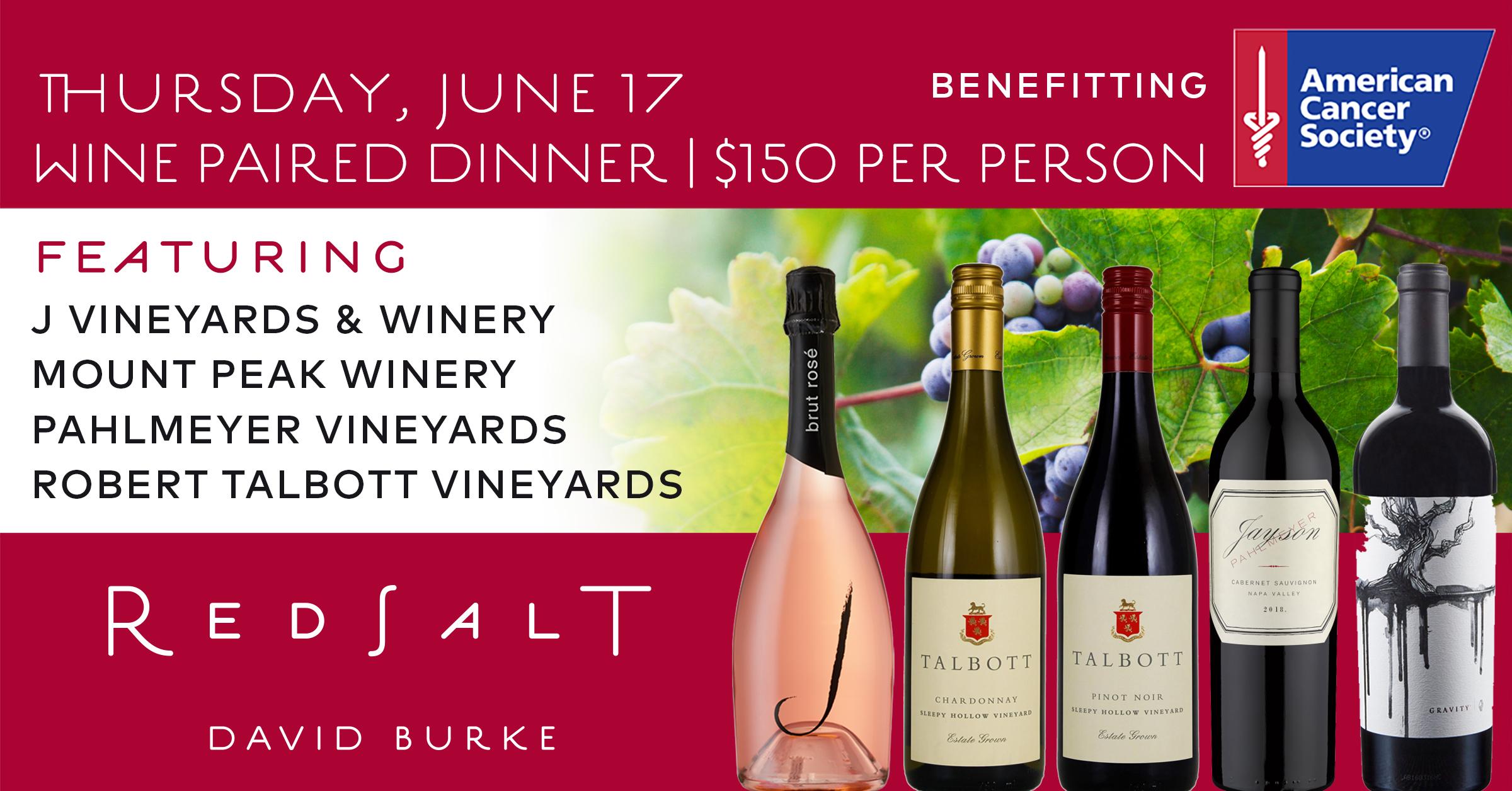 ACS Wine Paired Dinner June